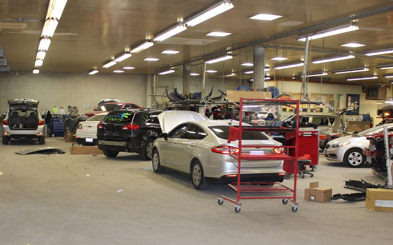 Our spacious body shop has all the latest tools and equipment to get the job done right.