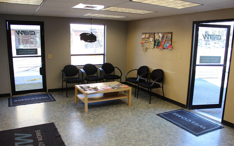 Our comfortable waiting room allows you to relax while we finish your repairs.